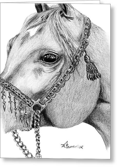 Arabian Halter Greeting Card by Kayleigh Semeniuk