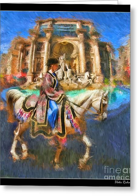 Arabian Horse  Greeting Card by Blake Richards