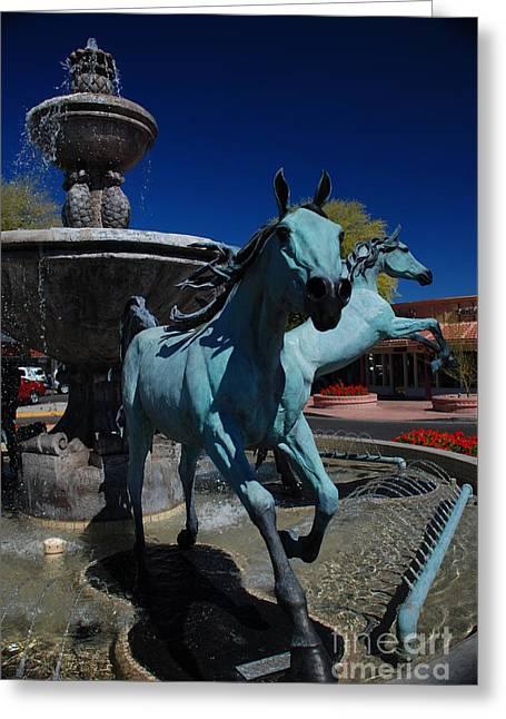 Arabian Horse Sculpture Greeting Card