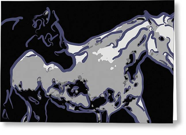 Arabian Horses Running Free  Greeting Card by Tommytechno Sweden