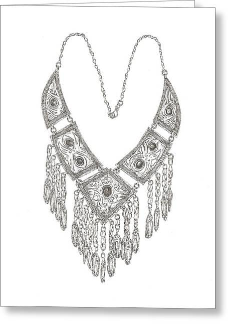 Arabian Necklace Greeting Card