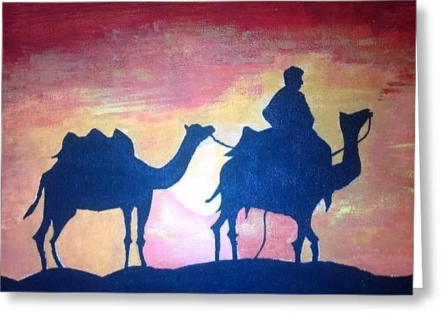 Arabian Sands Greeting Card by Remya Damodaran