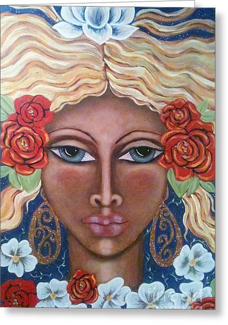 Aradne's Crown Greeting Card by Maya Telford