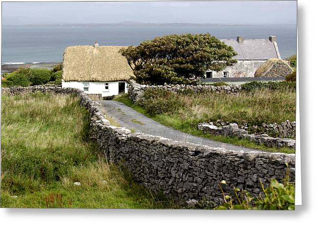 Aran Cottage Greeting Card by Jean Macaluso