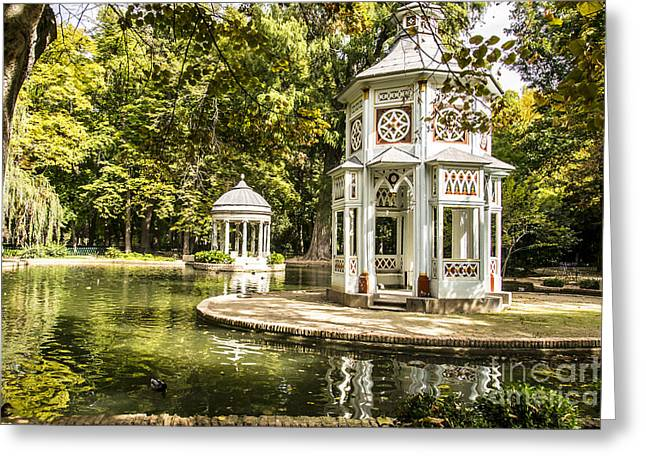 Aranjuez Park Lake Greeting Card