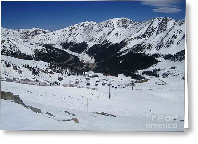 Arapahoe Basin June 2  Greeting Card by Fiona Kennard