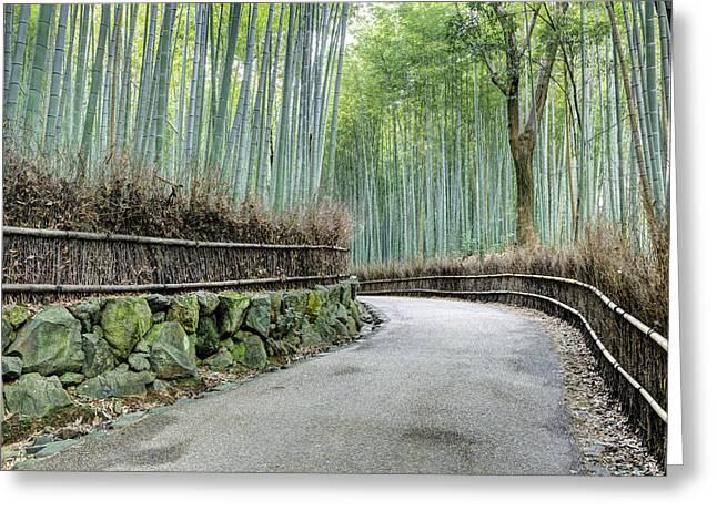 Arashiyama Bamboo Grove, Kyoto, Japan Greeting Card