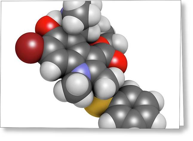 Arbidol Influenza Drug Molecule Greeting Card
