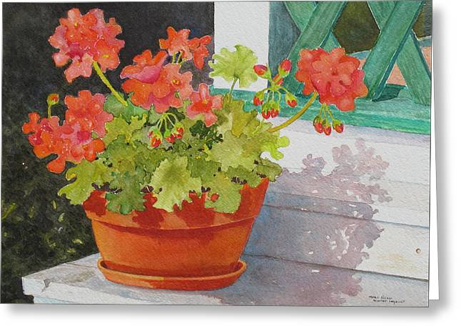 Arbor Gallery Steps Greeting Card by Mary Ellen Mueller Legault