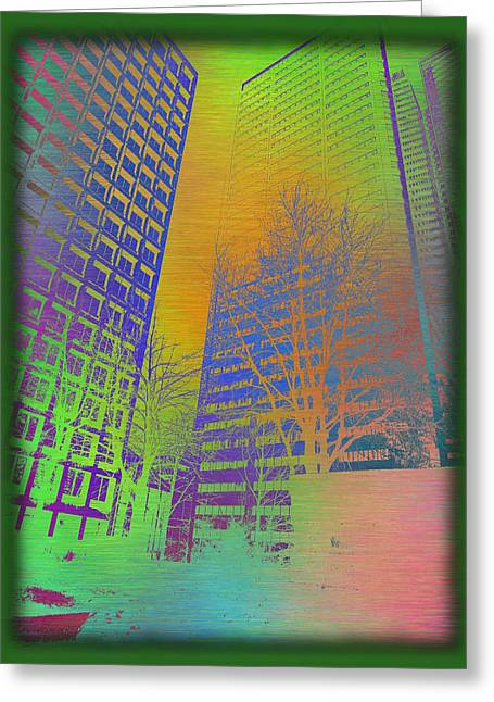 Arbor In The City 4 Greeting Card by Tim Allen