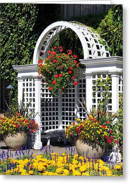 Arbor In The Garden Greeting Card