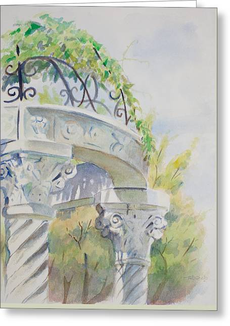 Arboretum Arbor Greeting Card by Christopher Reid