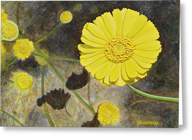 Arboretum Wild Flower  Greeting Card by Donna  Manaraze