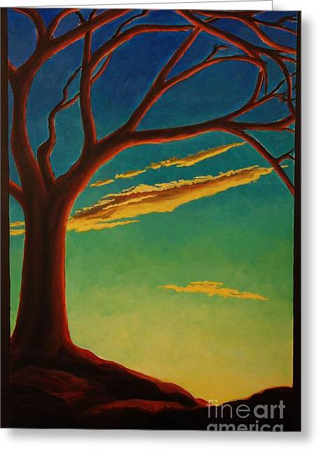 Greeting Card featuring the painting Arbutus Bliss by Janet McDonald