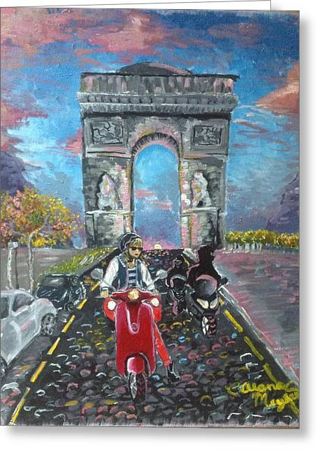 Arc De Triomphe Greeting Card by Alana Meyers