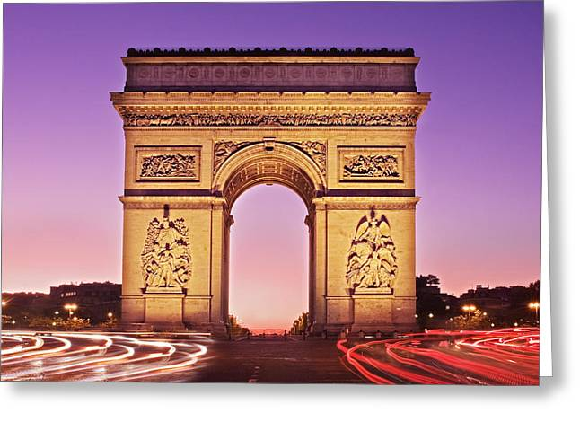 Arc De Triomphe Facade / Paris Greeting Card