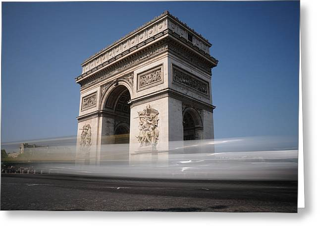 Arc De Triomphe Greeting Card by Jeremy Voisey