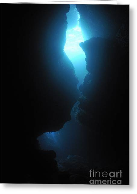 Arc-en-ciel Underwater Cave Greeting Card by Sami Sarkis