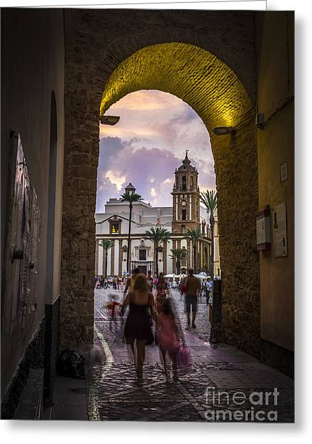 Arc Of The Rose Cadiz Spain Greeting Card by Pablo Avanzini