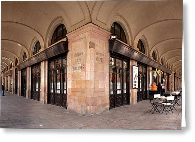 Arcades And The Famous Restaurant 7 Greeting Card