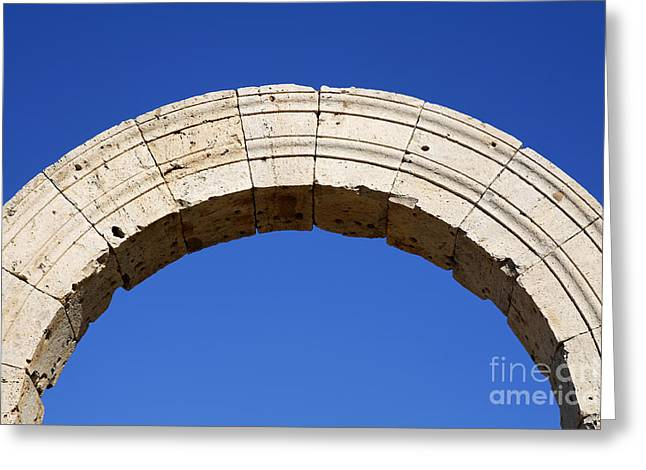 Arch At Leptis Magna In Libya Greeting Card by Robert Preston