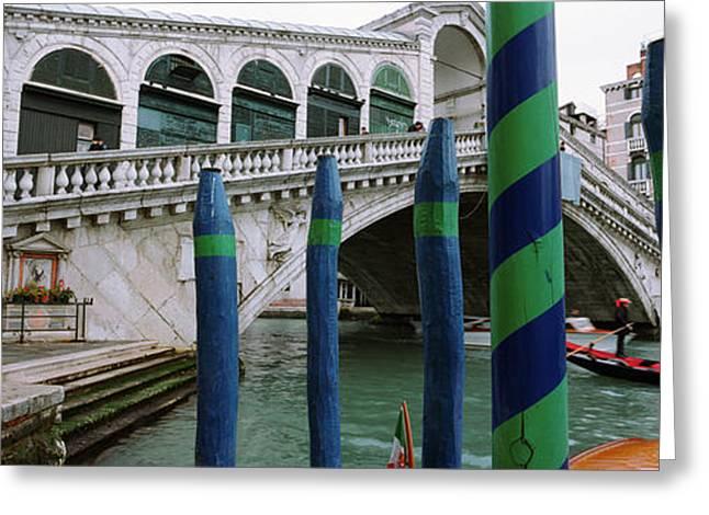 Arch Bridge Across A Canal, Rialto Greeting Card
