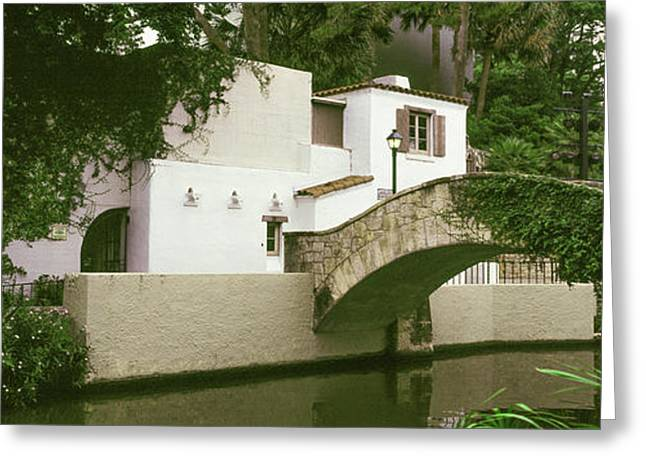 Arch Bridge At San Antonio River Walk Greeting Card by Panoramic Images