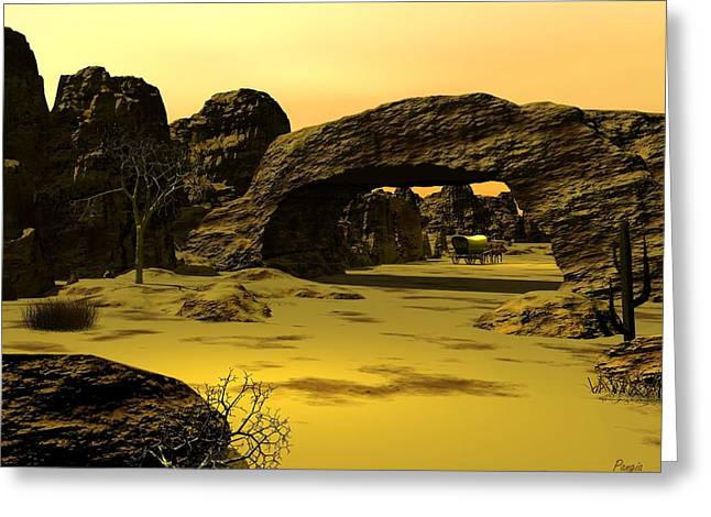 Arch Greeting Card by John Pangia