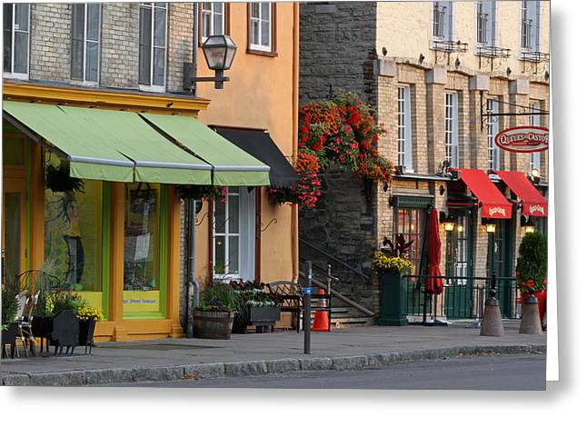 Arch Of Flowers In Old Quebec City Greeting Card by Juergen Roth