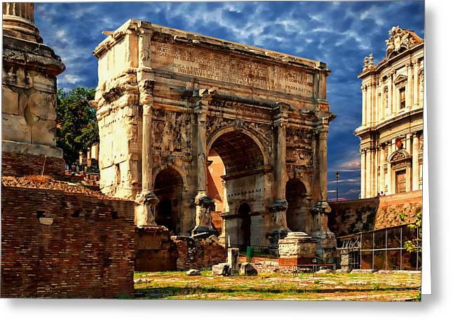 Arch Of Septimius Severus Greeting Card