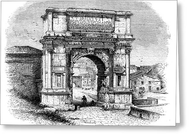 Arch Of Titus Greeting Card by Collection Abecasis