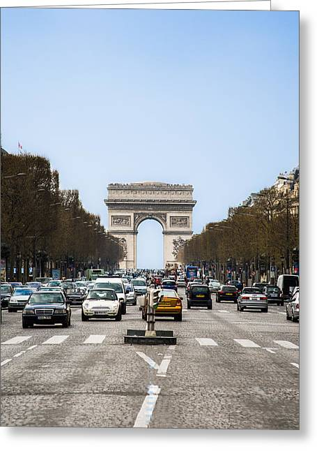 Arch Of Triumph In Paris Greeting Card