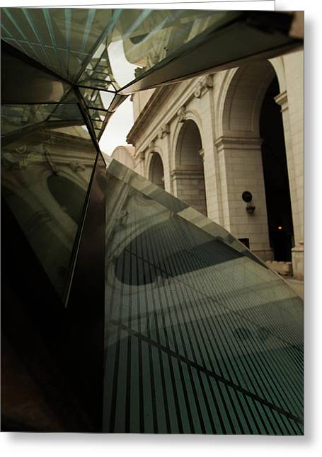Greeting Card featuring the photograph Arch Reflections by Haren Images- Kriss Haren