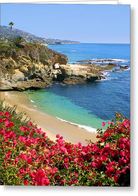 Arch Rock And Beach Laguna Greeting Card
