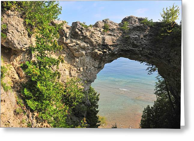 Arch Rock In Mackinac Island State Park Greeting Card