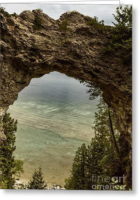 Arch Rock Mackinac Island Greeting Card by Margie Hurwich