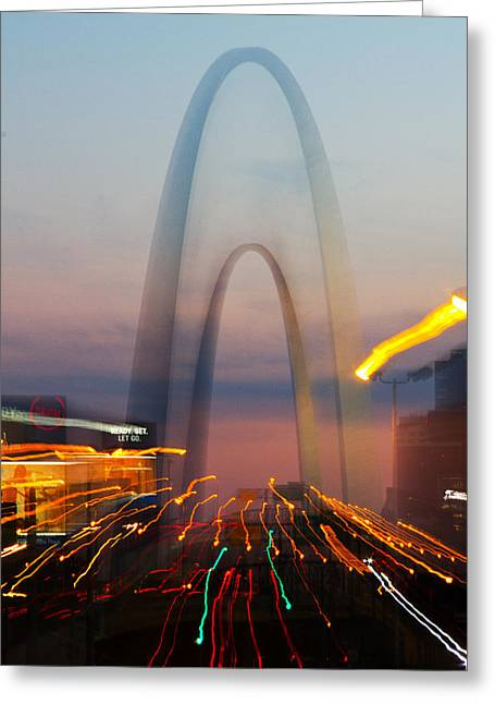 Arch Special Effect Greeting Card by Garry McMichael