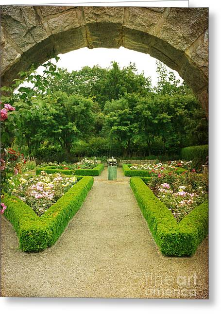 Greeting Card featuring the photograph Arch To The Rose Garden by Maria Janicki