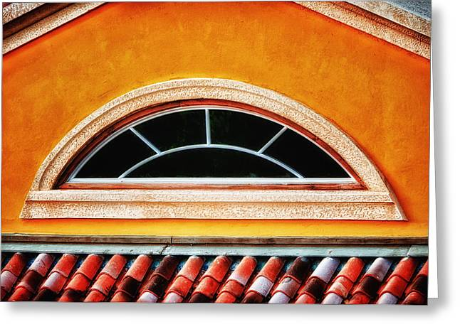 Greeting Card featuring the photograph Arch Window In Jamaica by Gary Slawsky