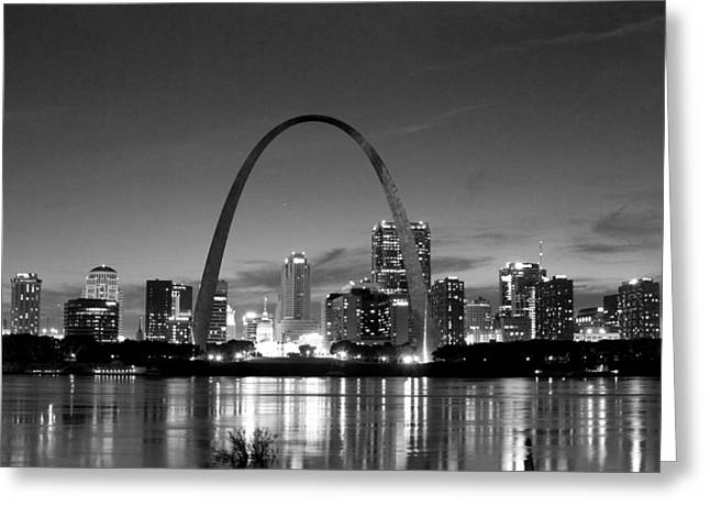 Arch Work Bw Greeting Card by Joe Scott