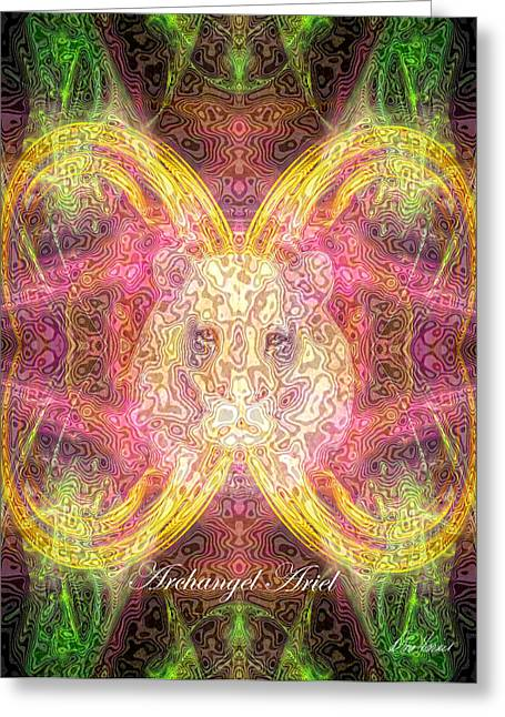 Archangel Ariel Greeting Card by Diana Haronis