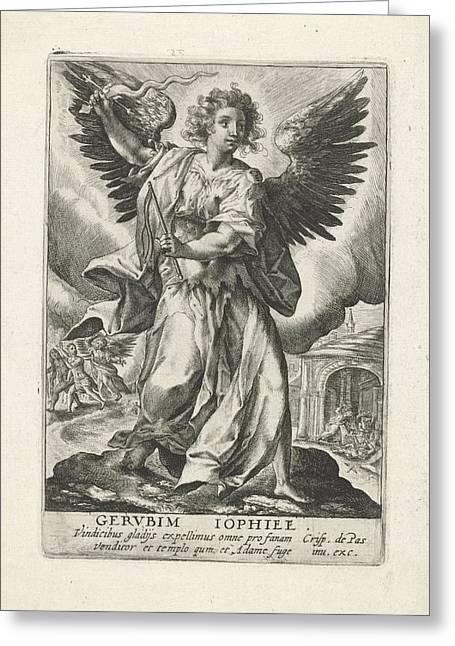 Archangel Jophiel, Crispijn Van De Passe Greeting Card by Crispijn Van De Passe (i)