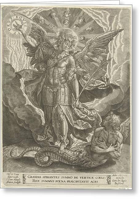 Archangel Michael Trampled Satan, Samuel Van Hoogstraten Greeting Card by Artokoloro