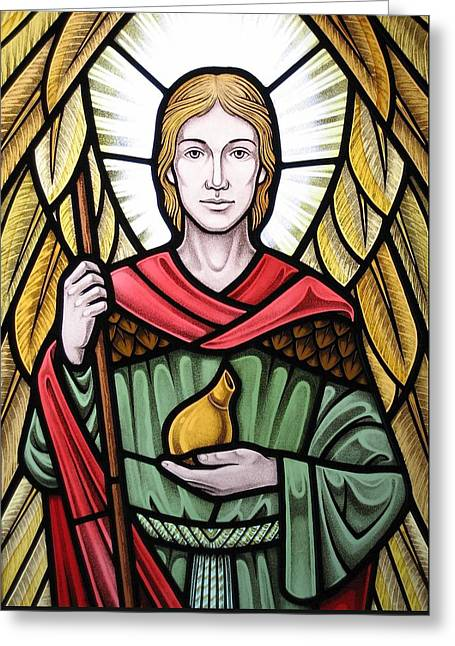Archangel Raphael Detail Greeting Card