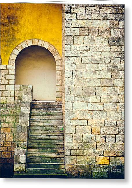 Greeting Card featuring the photograph Arched Entrance by Silvia Ganora