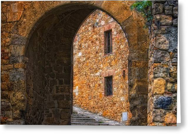 Arched Stone With Staircase Greeting Card