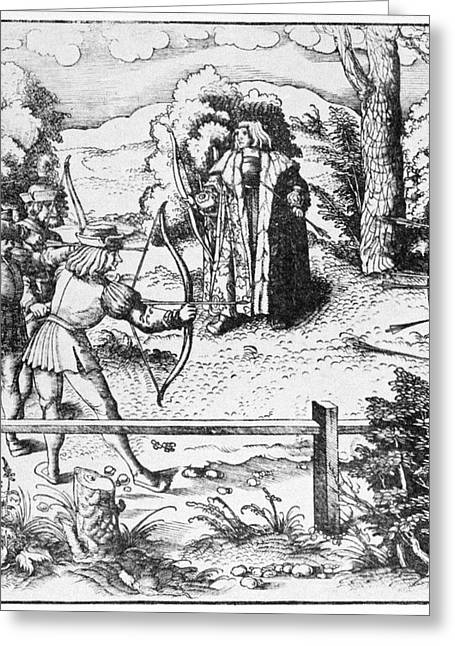 Archery, 16th Century Greeting Card by Granger