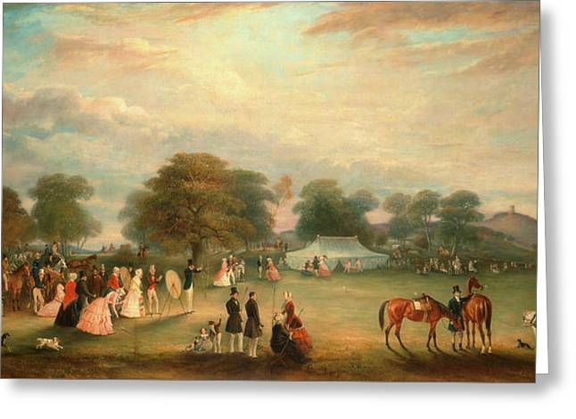 Archery Meeting In Bradgate Park, Leicestershire Signed Greeting Card by Litz Collection