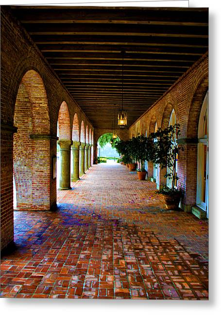 Arches And Bricks Greeting Card