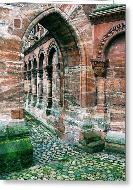 Arches And Cobblestone Greeting Card by Maria Huntley